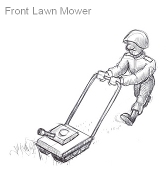 nightly sketch front lawn mower